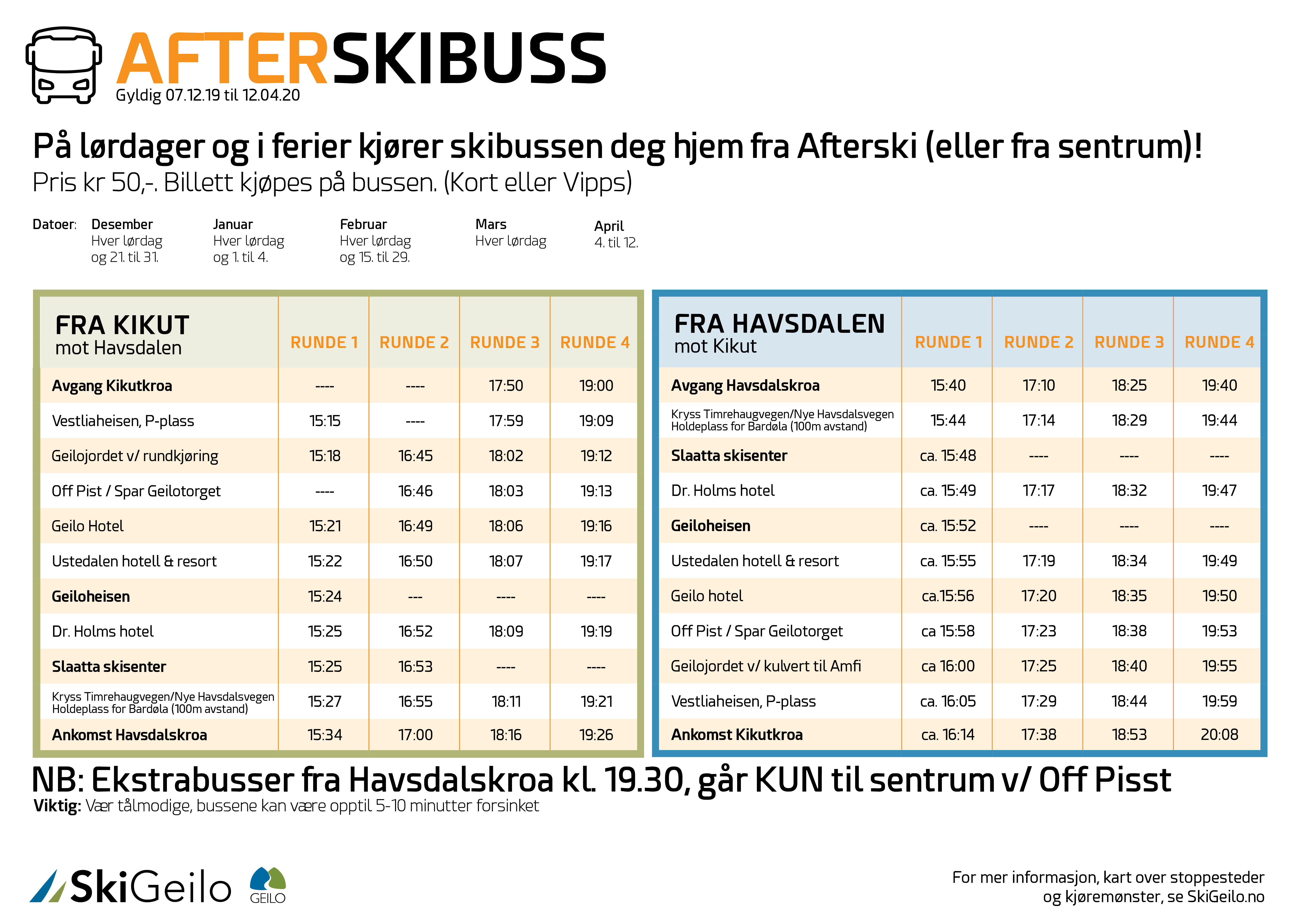 Afterskibussen 2019/20